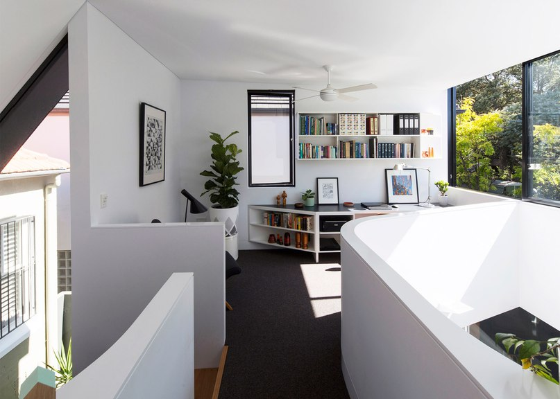 Wedge-shaped reading and sleeping nooks feature in
