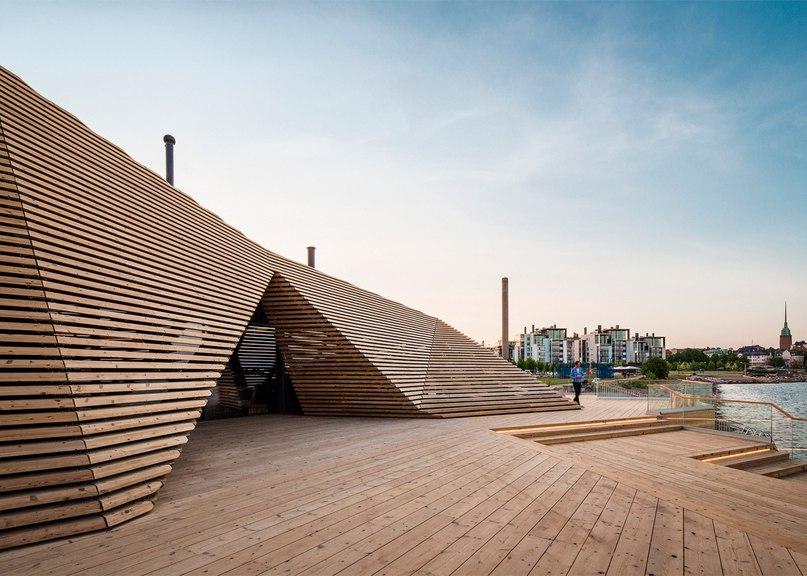 Avanto Architects builds coastal sauna in Helsinki