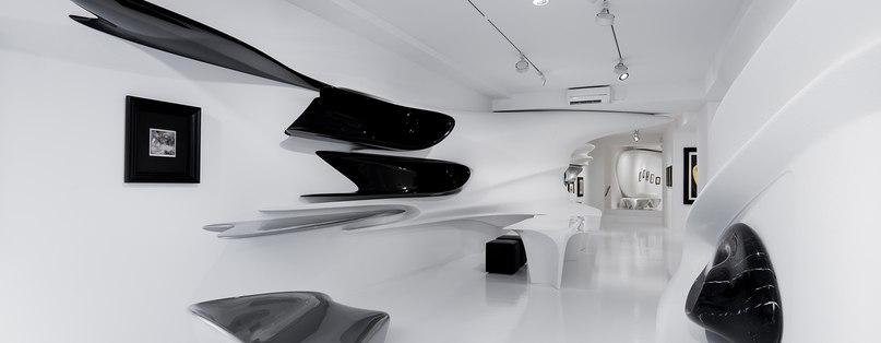 zaha hadid's transformed galerie gmurzynska hosts major