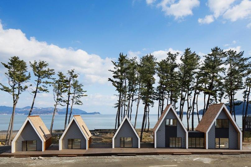 zai shirakawa organizes shingle-clad N village by