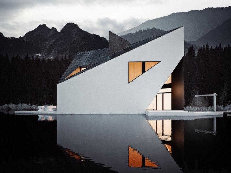великолепная вилла на озере Графический дизайнер Михал Новак Проект