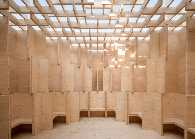 Forests of Venice pavilion offers a peaceful