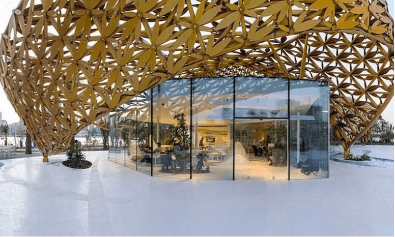 The Butterfly Pavilion Emulates Rainforest in the