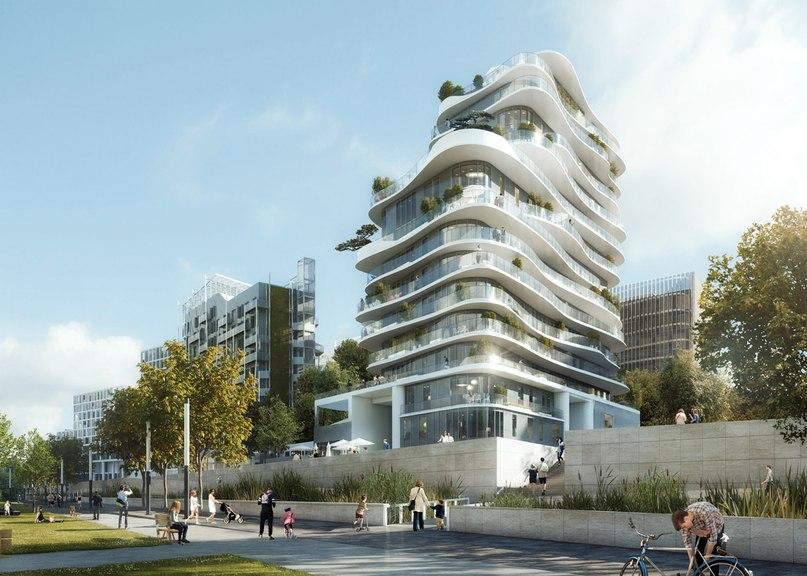 MAD unveils Parisian housing block with curvy