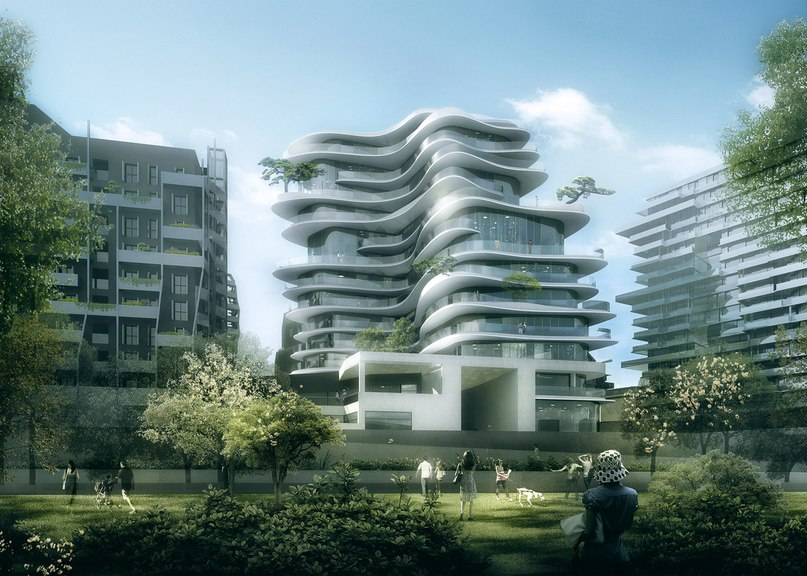 MAD unveils Parisian housing block with curvy