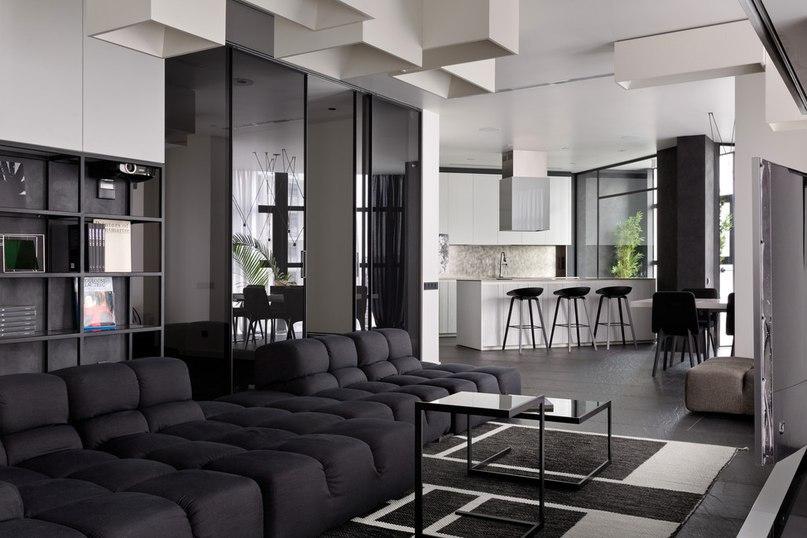 Часть 4. Чёрно-белая квартира для молодой пары Архитекторы