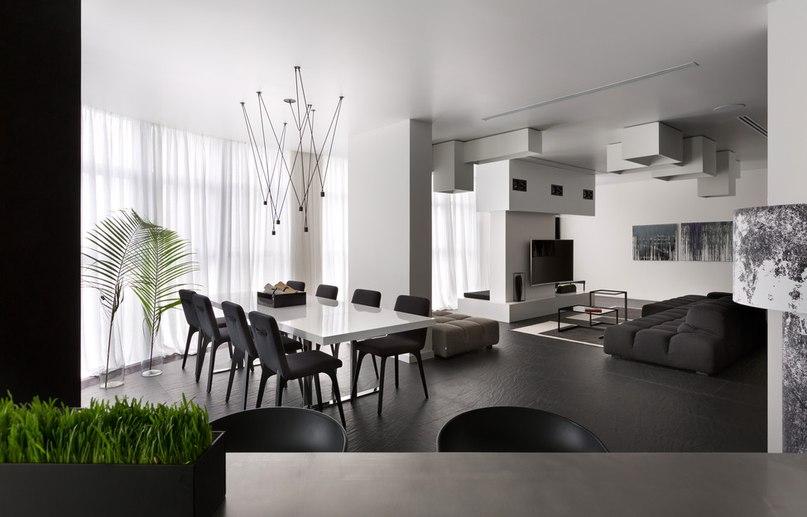 Часть 3. Чёрно-белая квартира для молодой пары Архитекторы