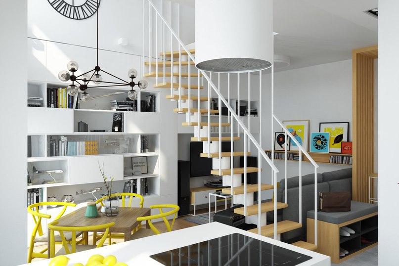 Дизайн-проект мансардной двухуровневой квартиры, общей площадью 69