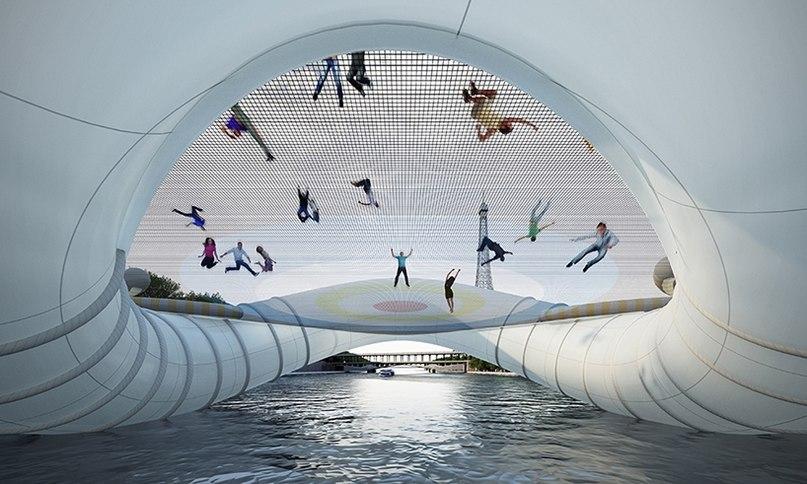 В Париже появится причудливый мост-батут: туристические новости