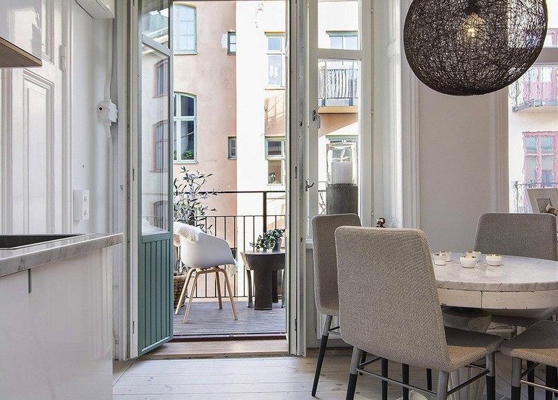 Светлая квартира-студия в скандинавском стиле  Эта небольшая, но