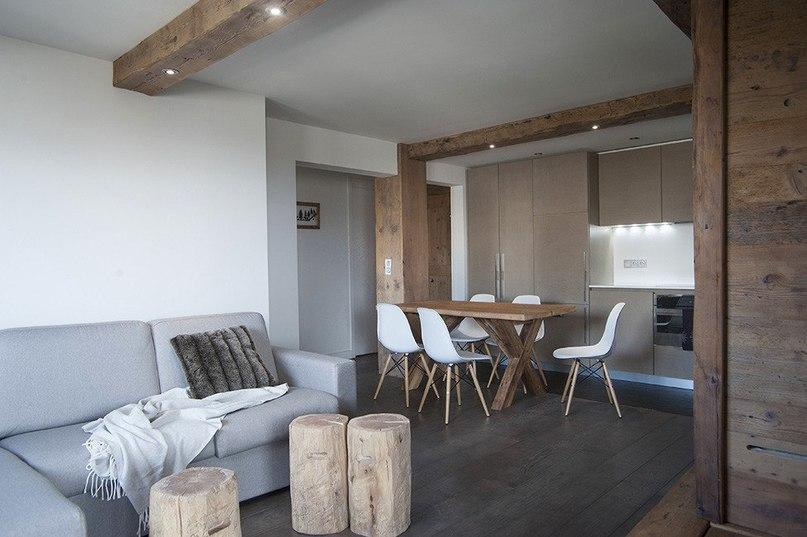 Квартира в стиле альпийского шале во Франции  Эта