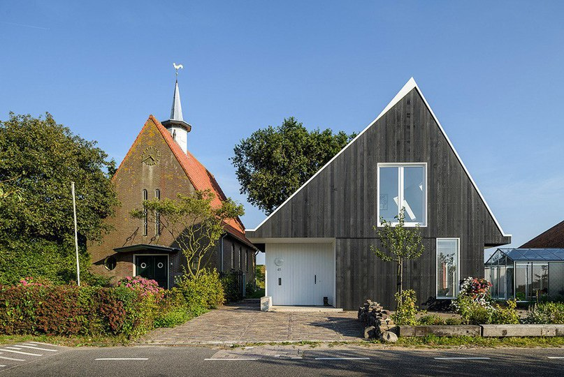Домик в деревне под Амстердамом  Проектное бюро Korteknie