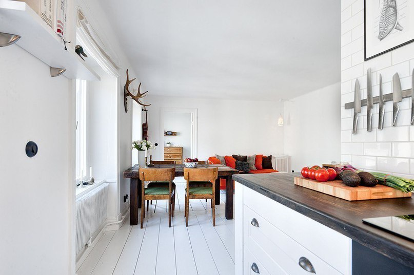 Скандинавский стиль с природными аксессуарами  Эта замечательная квартира
