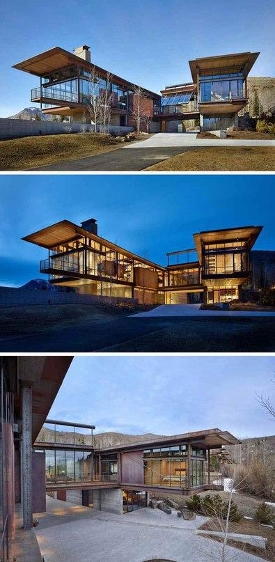 Консольный дом в штате Айдахо Весь проект: