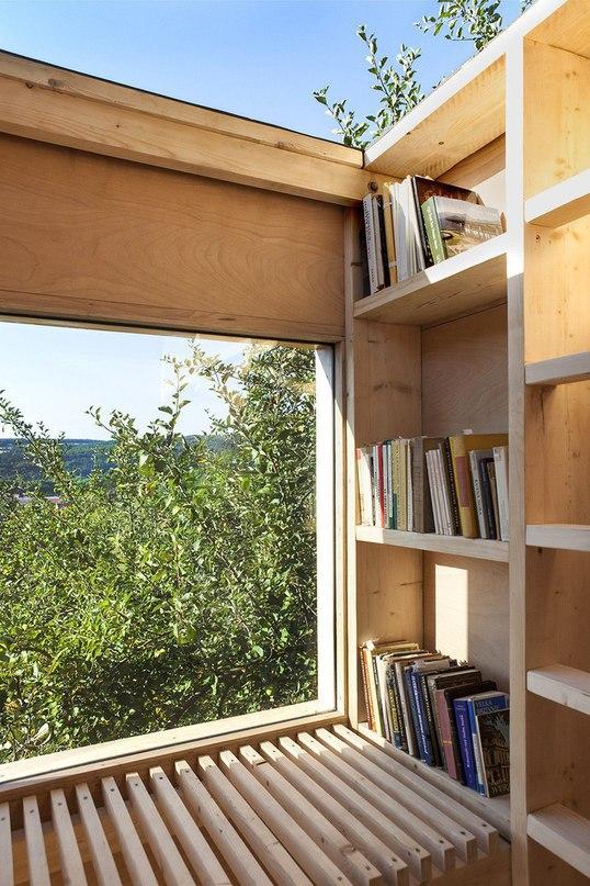 Частная библиотека в саду  Студия Mjölk architect представила