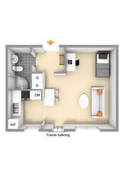 Квартира-студия 29 кв.м.
