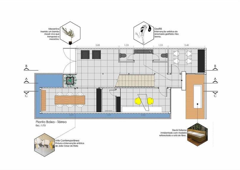 Офис из морских контейнеров Весь проект: