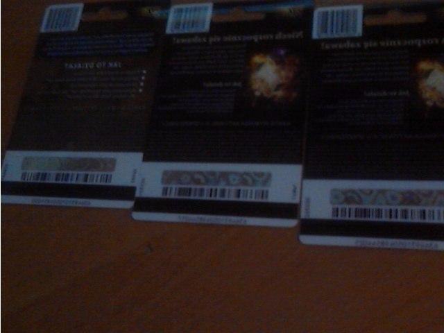 Продам подарочные карты для HS и WoW