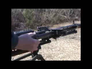 MG-42 немецкий ручной пулемет смена ствола