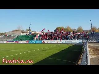 Красно-белая трибуна на матче КАМАЗ vs Спартак-2