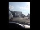 В Бийске горит трамвай 03.08.17