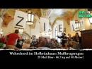 Hofbräuhaus World Record Matthias Völkl schafft den Weltrekord im Maßkrugtragen 29 Maß Bier