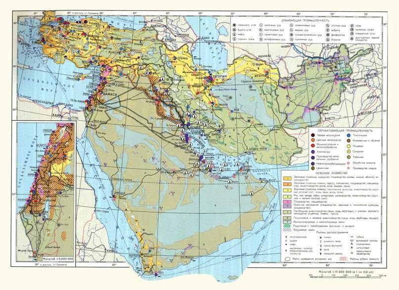 Икономическа карта на държавите от Близкия изток