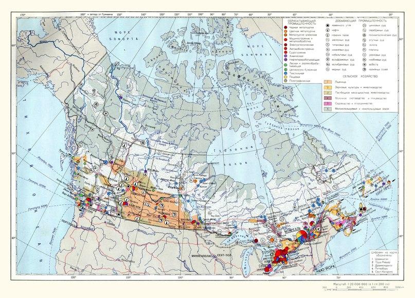 Икономическа карта на Канада
