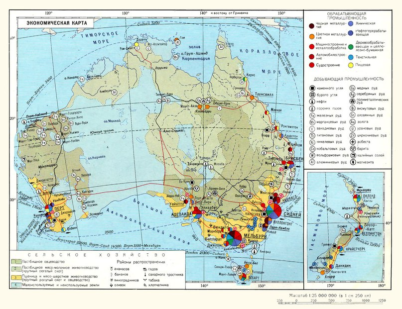 Икономическа карта на Австралия