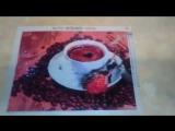 Алмазная мозаика Кофе и роза 4030