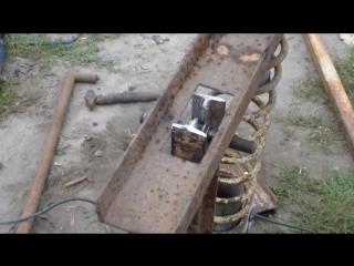 как сделать дровокол своими руками_ how to make log splitter
