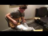 Quinn Sullivan testing a Booches Custom Guitar