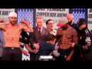 (WOW) LOW BLOW! -BILLY JOE SAUNDERS SON PUNCHES WILLIE MONROE JR IN THE BALLS KICKS HIM @ WEIGH IN