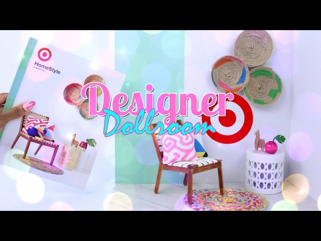 DIY - How to Make: Designer Doll Room   Make a Doll Room from a Target Catalog