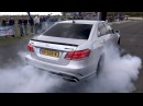 Mercedes-Benz E63 AMG - BURNOUT, REVS, DRAG RACING!!