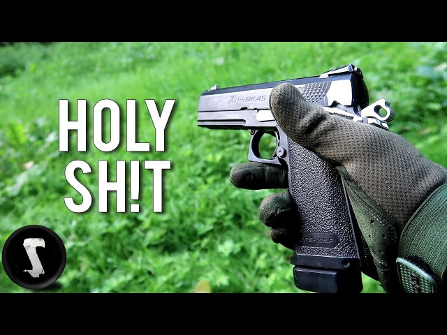 1500 RPM Airsoft Pistol SPRAYING 7 Guys in a Car