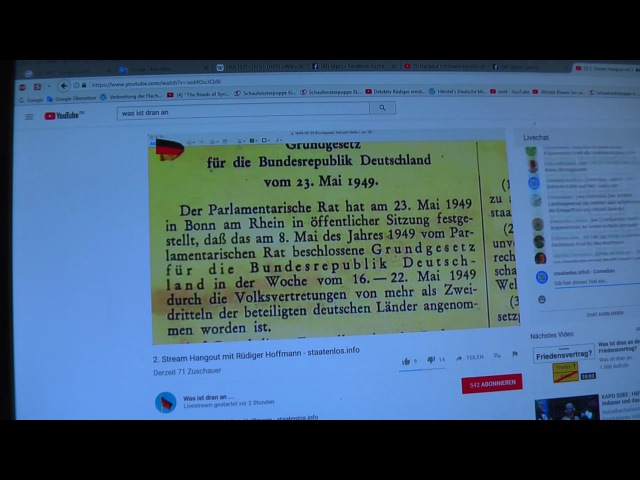 Staatenlos.info Hangout mit BRD Steuerung live Übertragung Part 2
