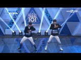 PERF. 170414 The Jackie Chan Group Boys  EP.2 Produce 101 @ Mnet Official