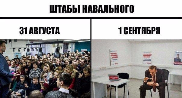 Штабы Навального 31 августа и 1 сентября
