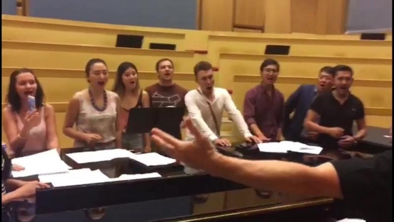 Репетиция NO MAD KARMA с хором Астана Опера для EXPO 2017