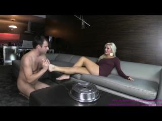 Cameron - Cuck Surprised by a Homemade Dinner, cuckolding, foot worship, foot licking, femdom, domination, humilation, cuckold