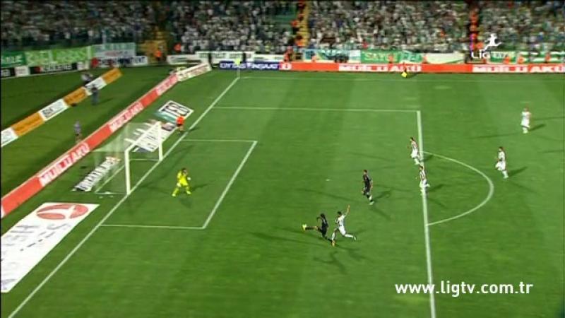 2013 - 2014 Sezonu - Bursaspor-Beşiktaş dakika 14 gol Hugo Almeida