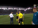 Tim Cahill Red Card in Melbourne Derby before entering pitch  A-League 201617