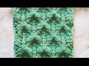 Объемные ромбики Вязание спицами Видеоурок 109