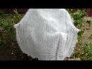 Белый ажурный платок из козьего пуха.