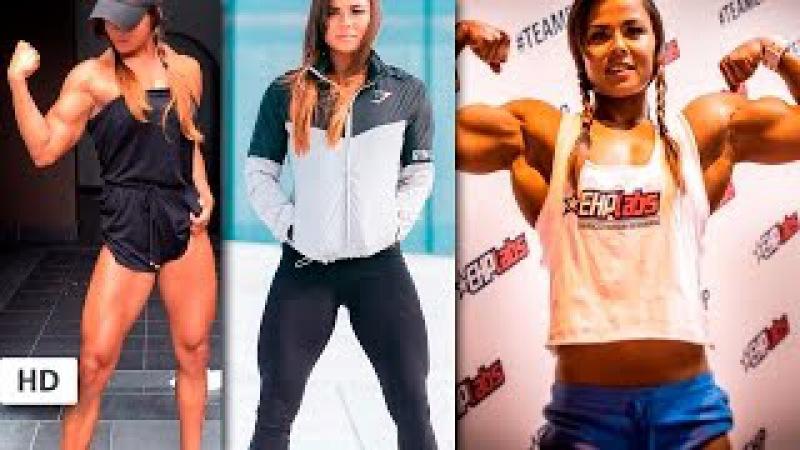 SOPHIE ARVEBRINK Fitness Model: Training Back, Legs, Shoulders and Special Arms Workouts Sweden