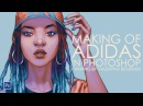 Adidas - digital painting progress speed drawing