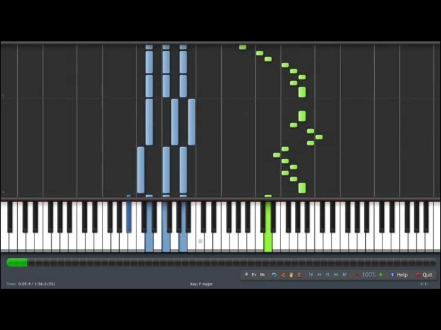 Fairy Tail - Natsu no Theme (Synthesia)