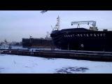 Чайки против уток (1) - Санкт Петербург - наб. Лейтенанта Шмидта - декабрь 2014