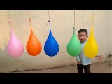 5 Wet Balloons Colors Learning Colors with Water Balloons and Finger Family Nursery Rhymes Songs